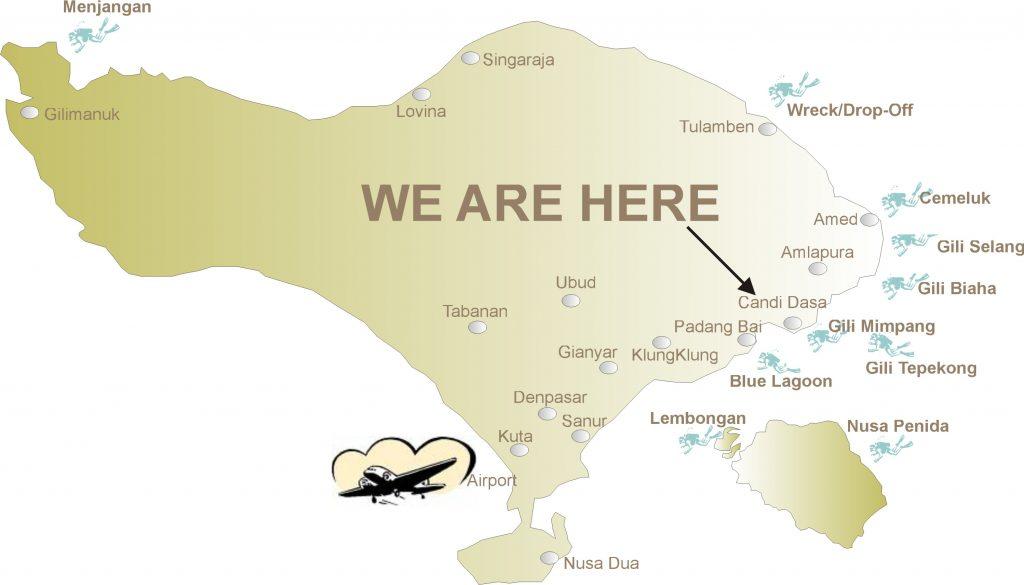 dive map bali